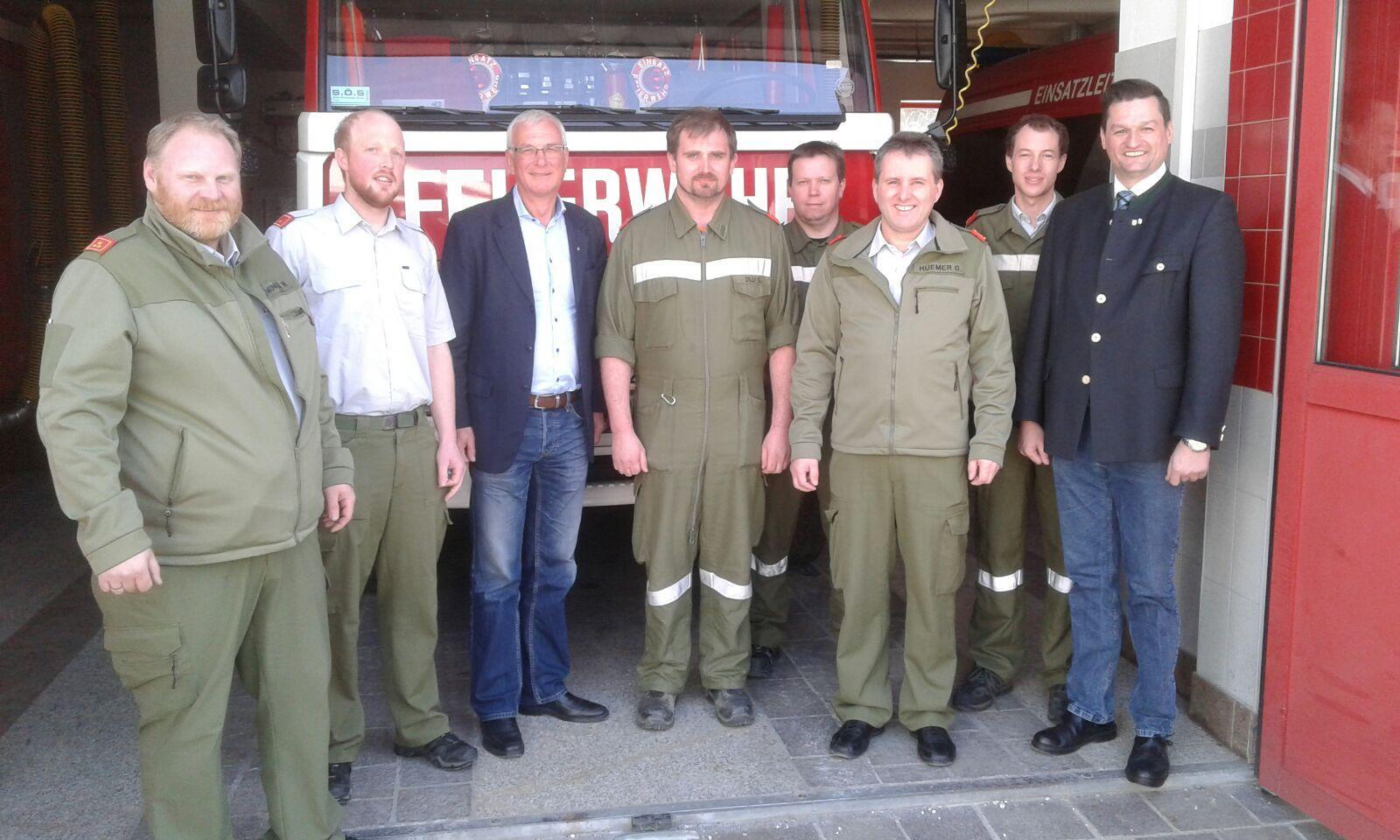 Besuch von Feuerwehr-Landesrat Podgorschek