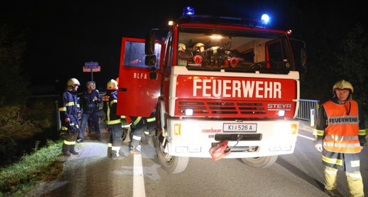Verkehrsunfall Pyhrnpass Straße FF Inzersdorf titel