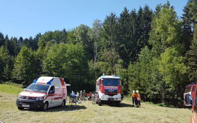 Schwerer Traktorunfall